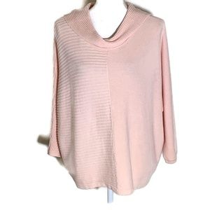 Chico's 2 pink ribbed pullover sweater size large